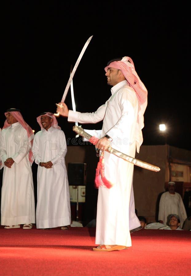 Les Qatari dansent l'Arda images libres de droits