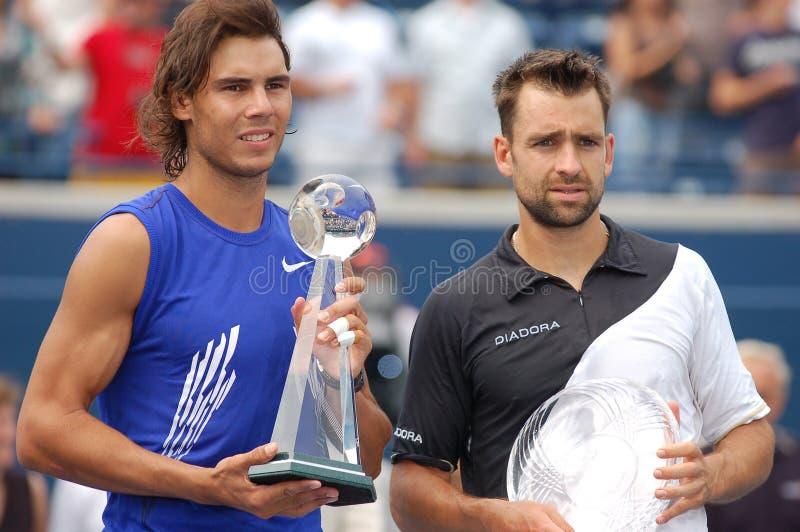 Les qualifiés aux finales de Nadal et de Kiefer de Rogers mettent en forme de tasse 2008 (146) photos libres de droits
