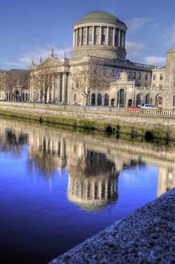 Les quatre cours 1802 - Dublin, Irlande (Irland) photos stock