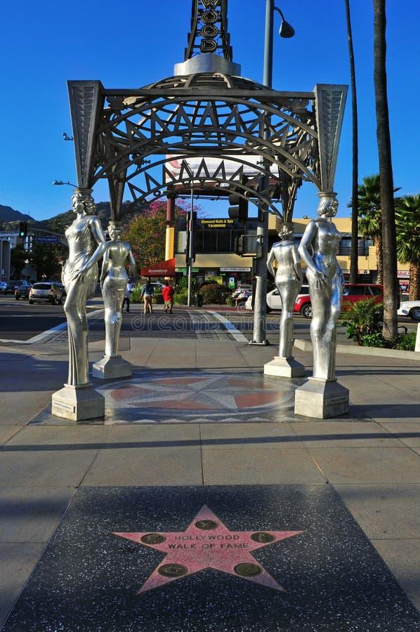 Les quatre dames du gazebo de Hollywood, Los Angeles images libres de droits