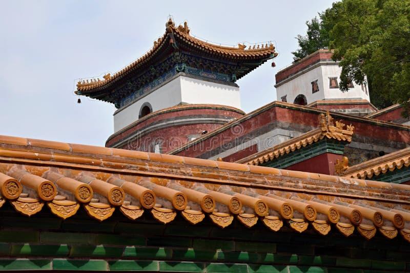 Les quatre grandes régions en raison du palais d'été dans Pékin photos libres de droits