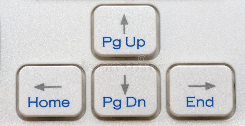 Les quatre touches de déplacement du curseur de clavier photographie stock