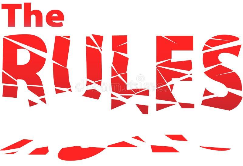 Les règles cassées tombe aux parties d'anarchie de chaos illustration de vecteur