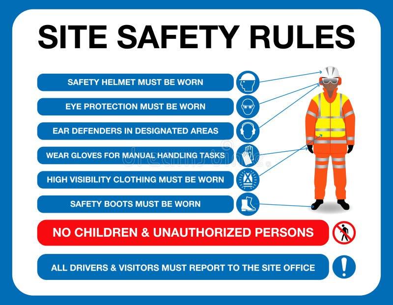 Les règles de sécurité de site embarquent facile à modifier photos libres de droits