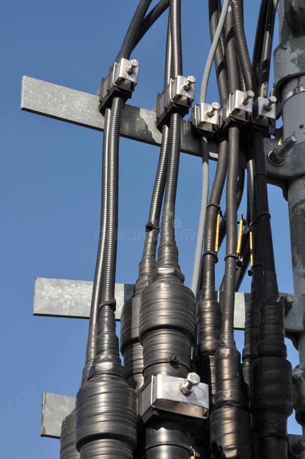 Les réseaux câblés de guide d'ondes photo libre de droits