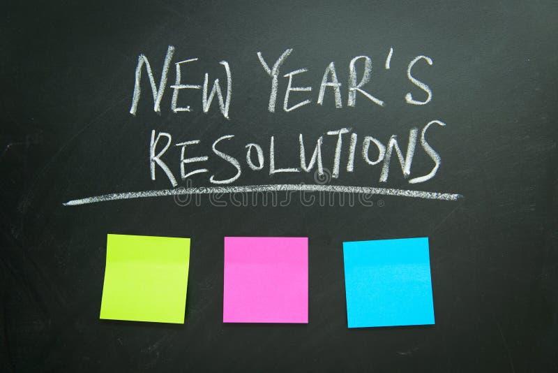 Les résolutions d'an neuf photos libres de droits
