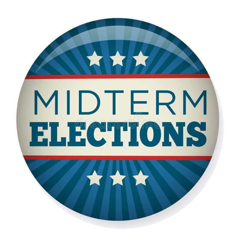 Les rétros élections à moyen terme votent ou élection Pin Button/insigne illustration de vecteur