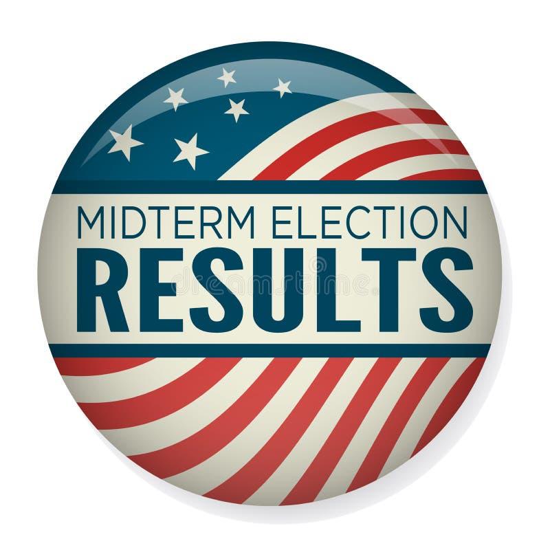 Les rétros élections à moyen terme votent ou élection Pin Button/insigne illustration stock