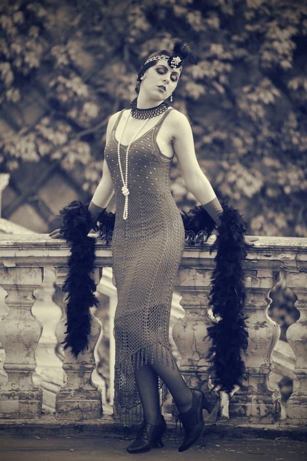Les rétros années 1920 de femme - les années 1930 images libres de droits