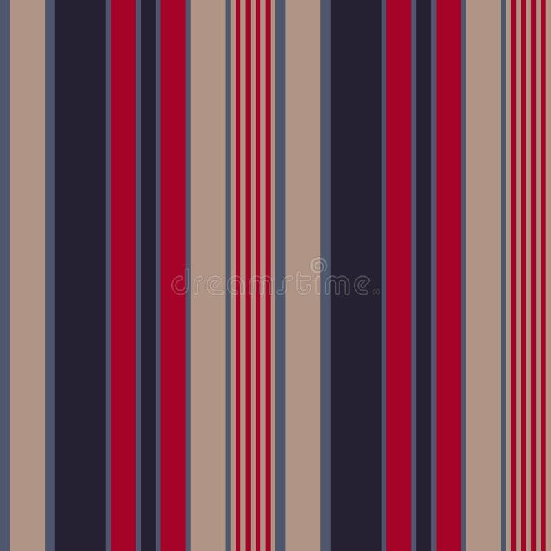 Les rétros Etats-Unis colorent le modèle sans couture de rayures de style de mode Fond abstrait de vecteur illustration stock