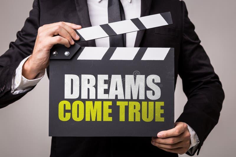 Les rêves viennent vrai sur une image conceptuelle photographie stock libre de droits