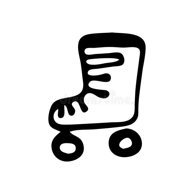 Les raies de emballage tirés par la main gribouillent Icône de jouet pour enfants de croquis dec illustration stock