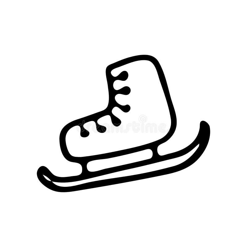Les raies de glace tirés par la main gribouillent Icône d'hiver de croquis Élément de décoration D'isolement sur le fond blanc Il illustration de vecteur