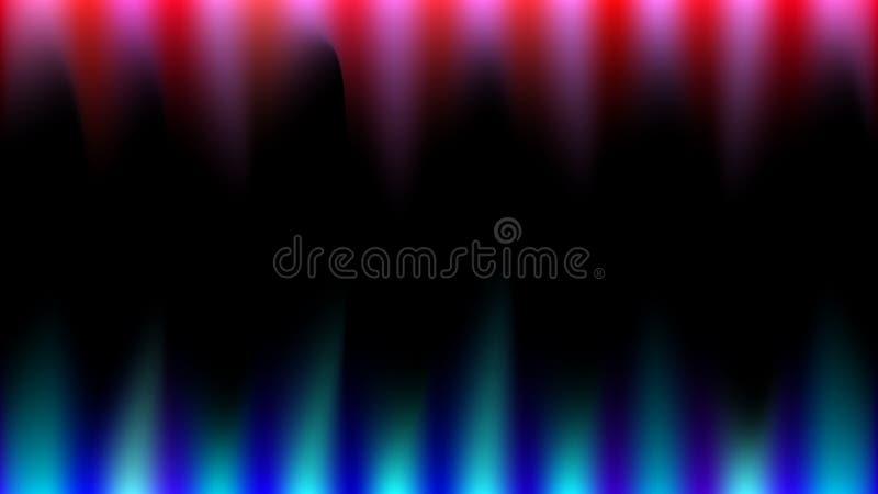 Les raies de la lumière magiques lumineux, abstraits, multicolores, bleus, rouges et roses aiment le feu, les crocs pointus, stal illustration stock