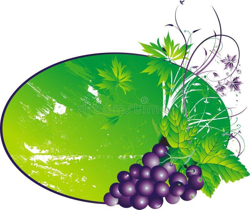 Download Les raisins stylisés illustration de vecteur. Illustration du branchement - 8660476