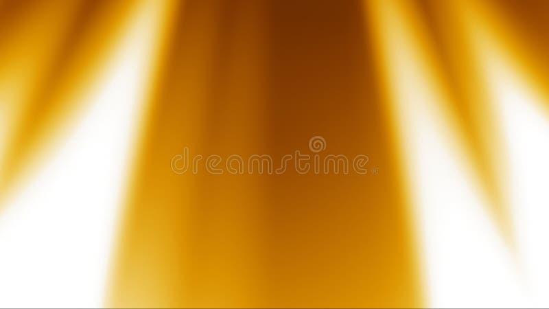 Les rayons d'or allument le fond illustration libre de droits