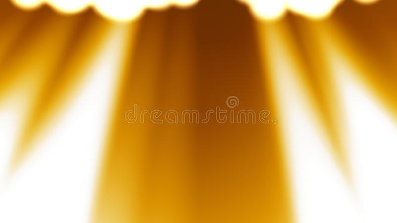 Les rayons d'or allument le fond illustration stock