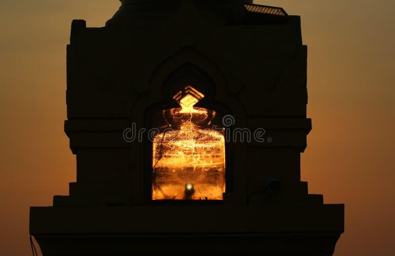Les rayons du coucher de soleil image libre de droits