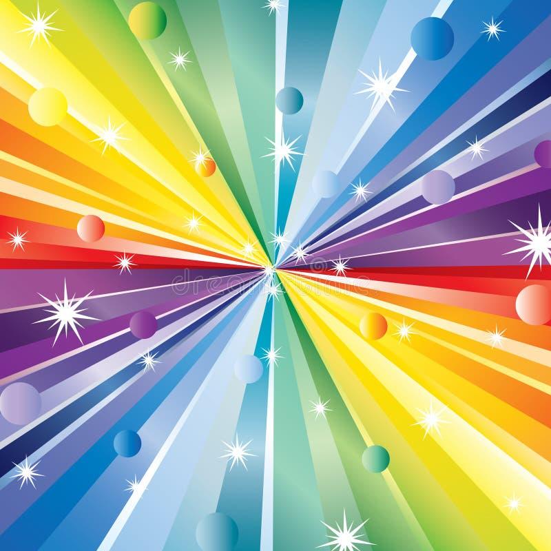 Les rayons et les étoiles. illustration stock