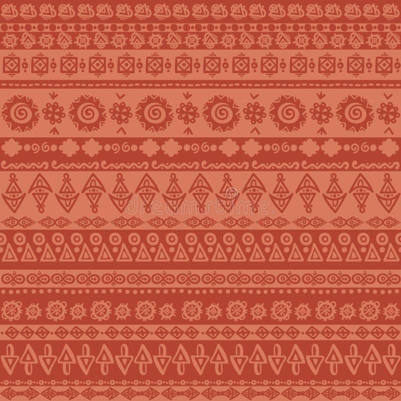 Les rayures ethniques de vintage - dirigez l'ornement, modèle sans couture de vecteur Fond rayé ethnique illustration de vecteur