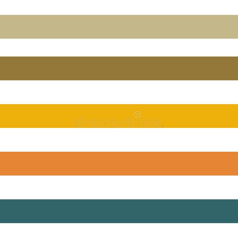 Les rayures géométriques abstraites sans couture dirigent le fond de modèle avec les traits horizontaux colorés sarcelle d'hiver  illustration stock