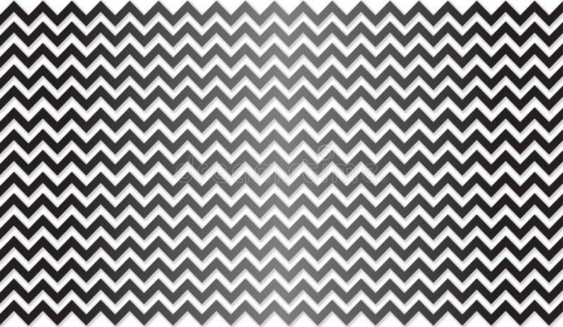Les rayures noires et blanches de entrelacement sans couture de zigzag donnent au fond une consistance rugueuse illustration libre de droits