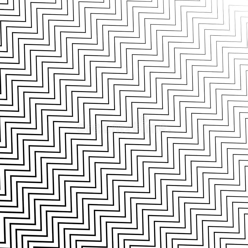 Les rayures noires et blanches diagonales de entrelacement sans couture de zigzag donnent au fond une consistance rugueuse illustration de vecteur