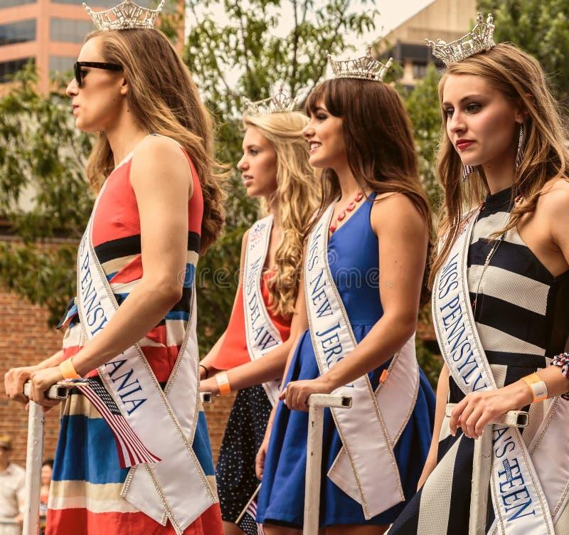 Les 4 Reines de beauté Pennsylvanie photo libre de droits