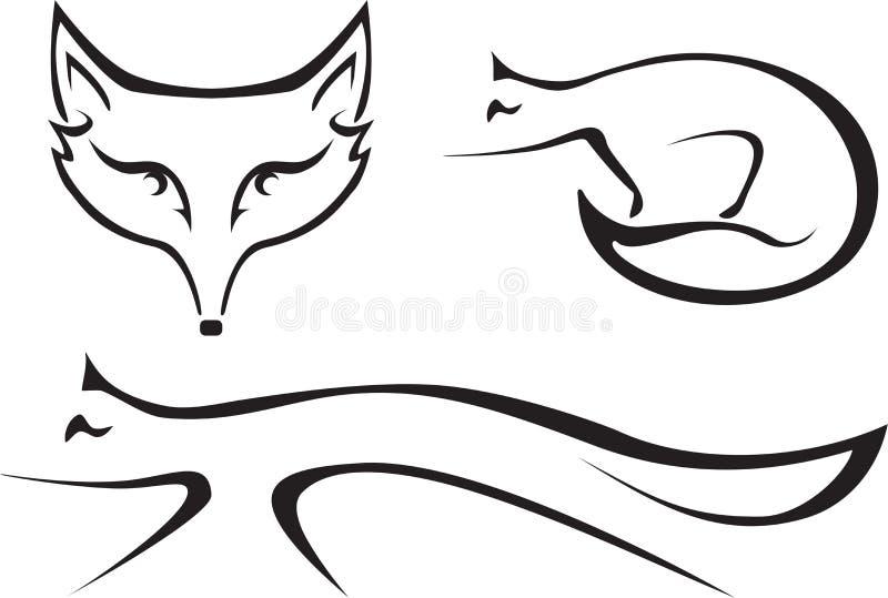 Les renards illustration de vecteur