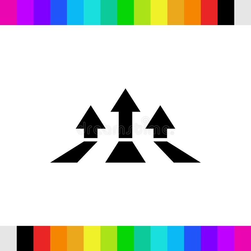 Les repères et l'icône colorés de flèches stockent la conception plate d'illustration de vecteur photo stock