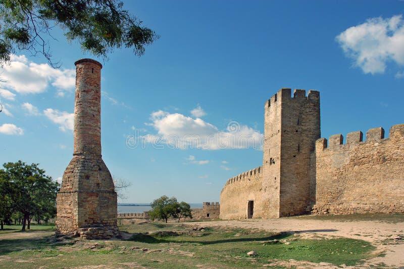 Les restes de la forteresse d'Akkerman images stock