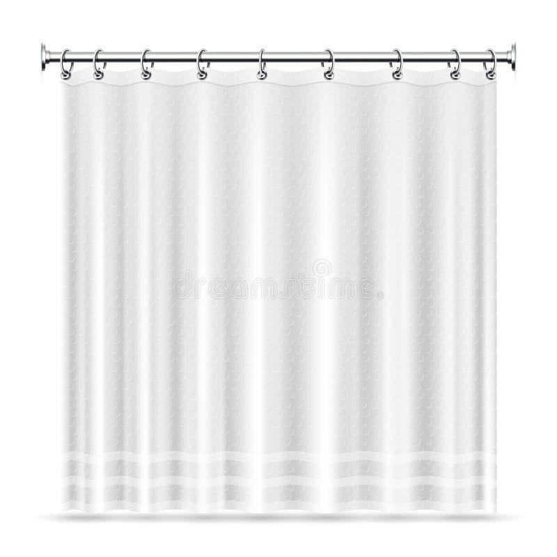 Les rideaux en douche réalistes dirigent le calibre pour l'intérieur de salle de bains illustration stock