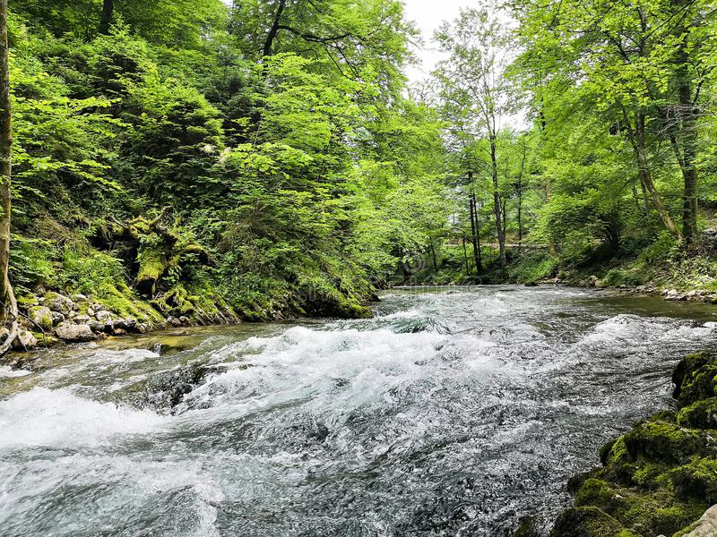 Les rivières du vintgard photos stock