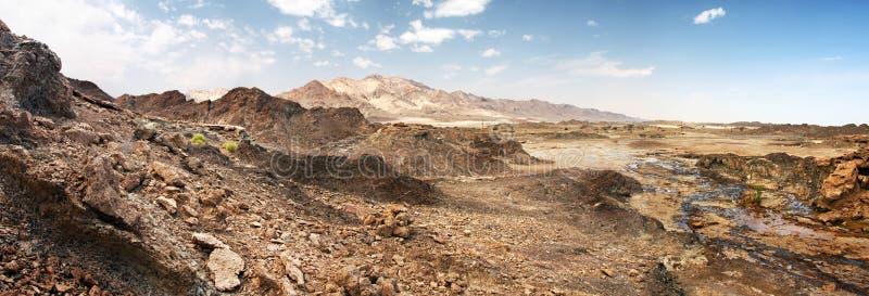 les roches de khali de désert d'Al frottent les EAU photographie stock libre de droits