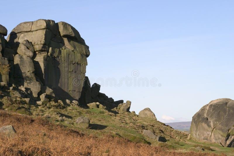 Les roches de vache et de veau, Ilkley amarrent, West Yorkshire photo libre de droits