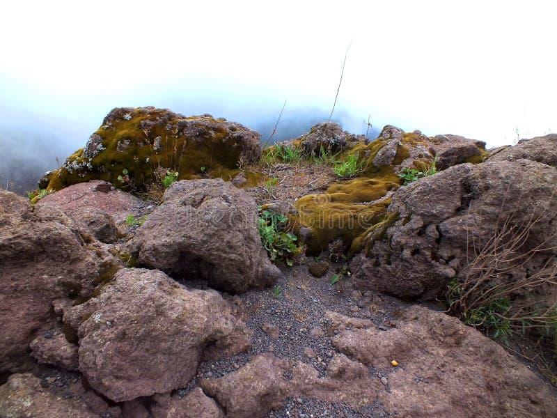 Les roches du mont Vésuve photographie stock