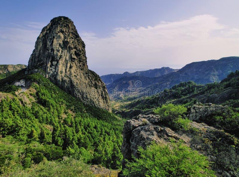 Les roches sur Gomera images libres de droits