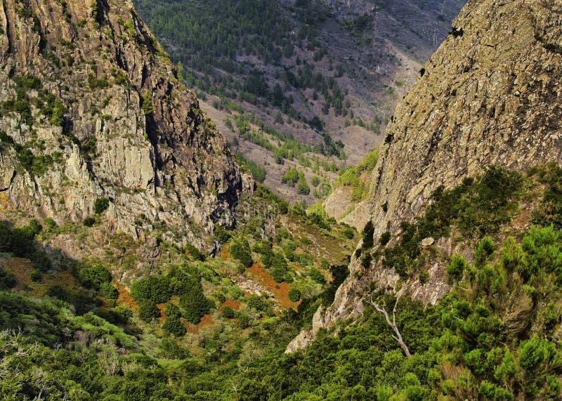Les roches sur Gomera photo stock