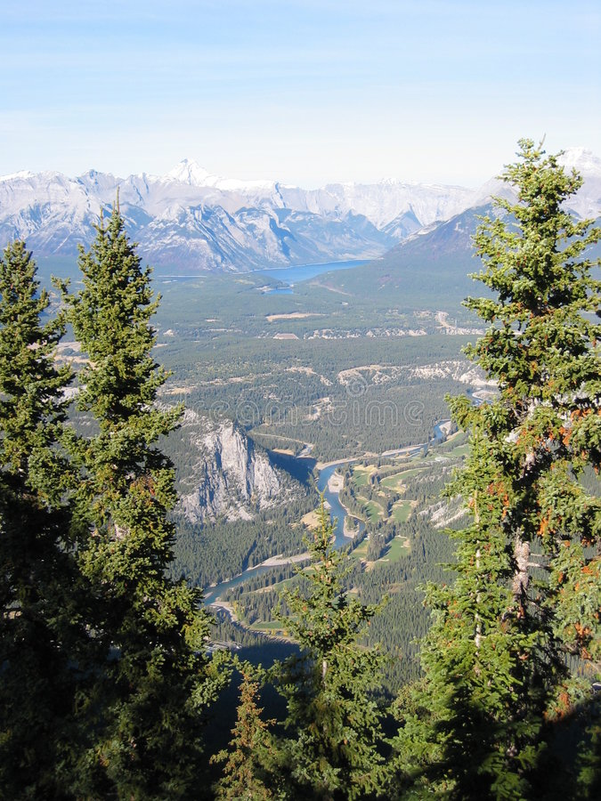 Les Rocheuses canadiennes images libres de droits