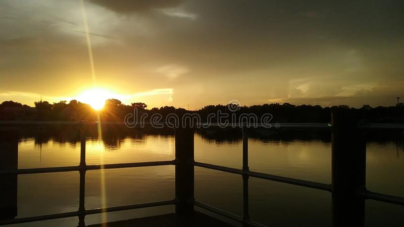 Les Rois Bay Park, Crystal River Florida Sunsets 91 photos stock