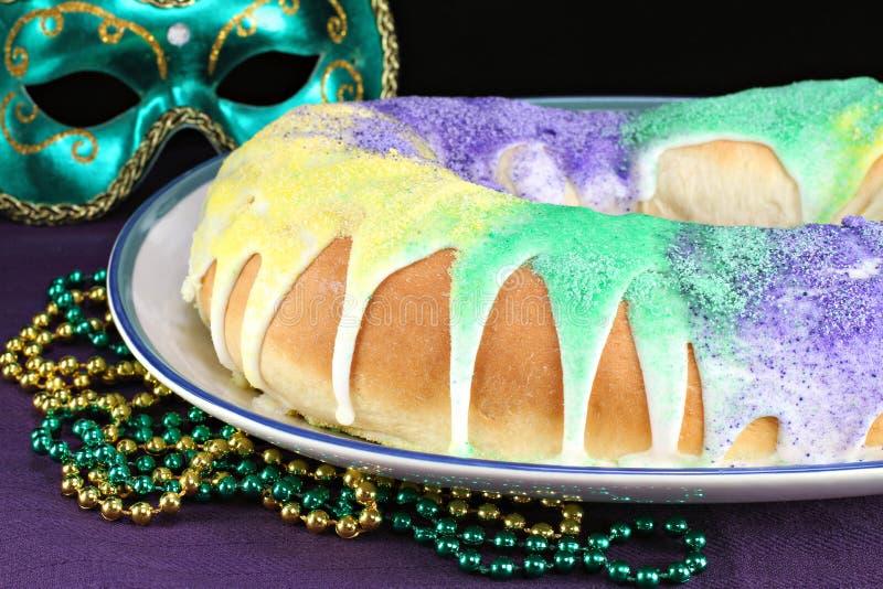 Les Rois Cake pour le mardi gras photographie stock