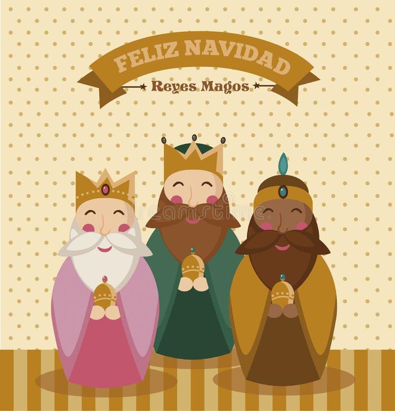 Les Rois mages illustration stock