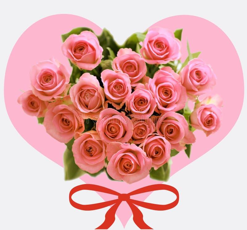 Les roses de Valentin images stock