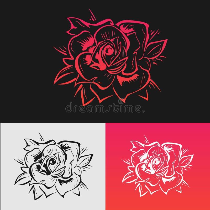 Les roses sont rouges illustration stock