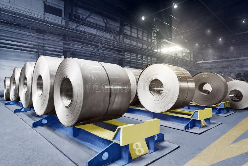 Les rouleaux emballés de tôle d'acier, acier laminé à froid love images libres de droits