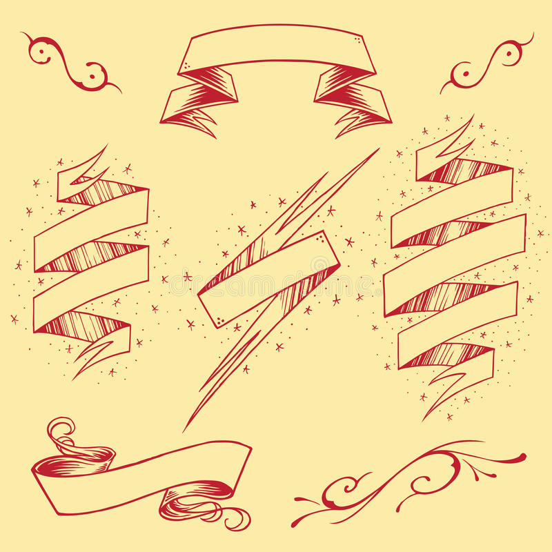 Les rubans ont placé 03 illustration libre de droits