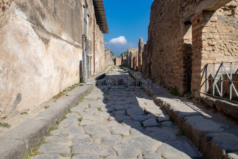 Les rues antiques de Pompeii image stock