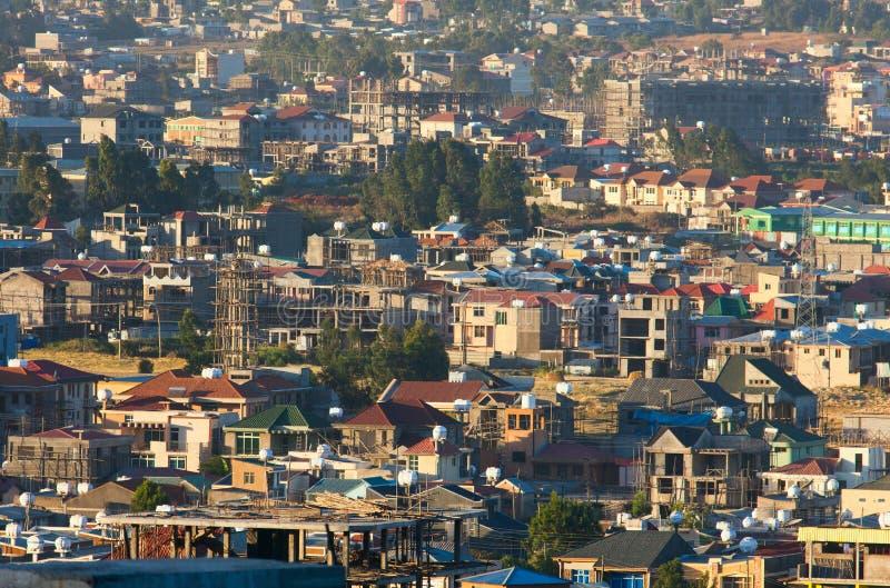 Les rues d'Addis Ababa Ethiopia image libre de droits
