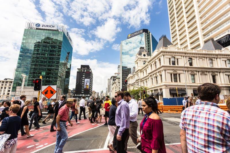 Les rues d'Auckland, Nouvelle-Zélande photos stock