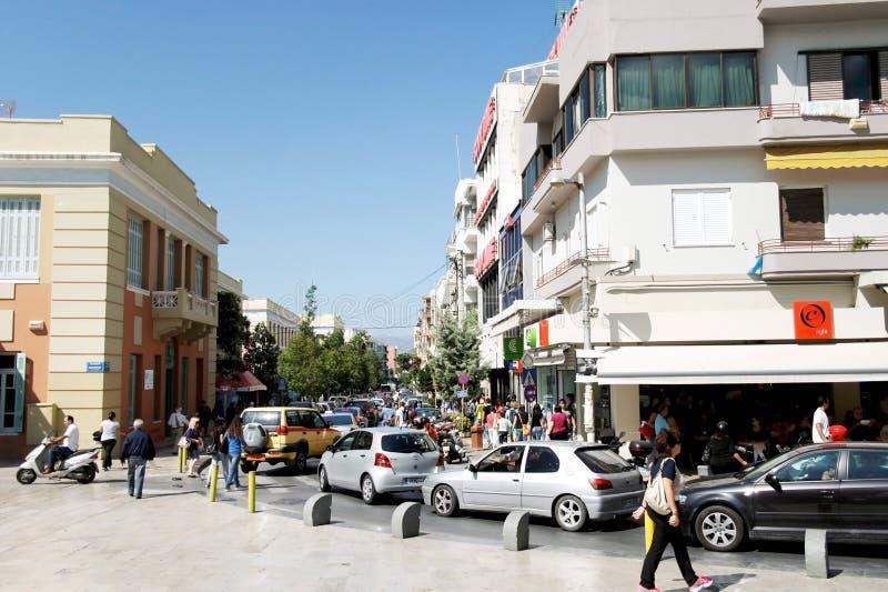 Les rues de la ville de Héraklion, Crète photographie stock